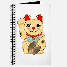 Gold Maneki Neko Journal