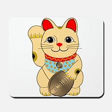 Gold Maneki Neko Mousepad