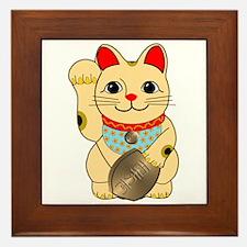Gold Maneki Neko Framed Tile