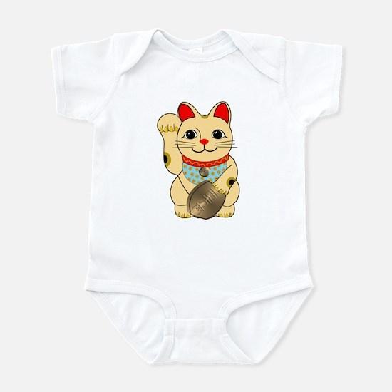 Gold Maneki Neko Infant Bodysuit