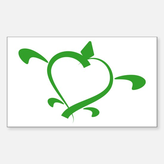 Turtle Love Rectangle Decal