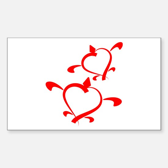 Happy Couple Rectangle Decal