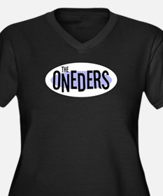The ONEDERS Women's Plus Size V-Neck Dark T-Shirt