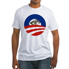 Obama Eye Icon Fitted USA T-Shirt