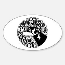 Dogs Lives Oval Decal