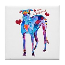 Love a Greyhound Tile Coaster