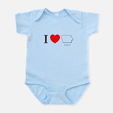 Funny Iowa corn Infant Bodysuit