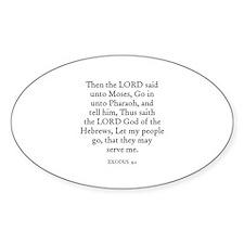 EXODUS 9:1 Oval Decal