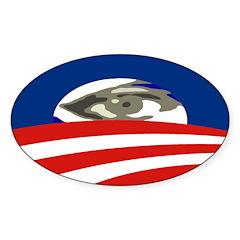 All-Seeing Eye of Obama Bumper Sticker