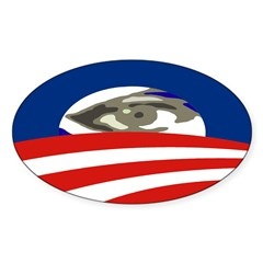All-Seeing Eye of Obama Bumper Decal