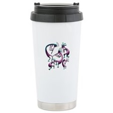 Five Purple Metalic Kokopelli Travel Mug