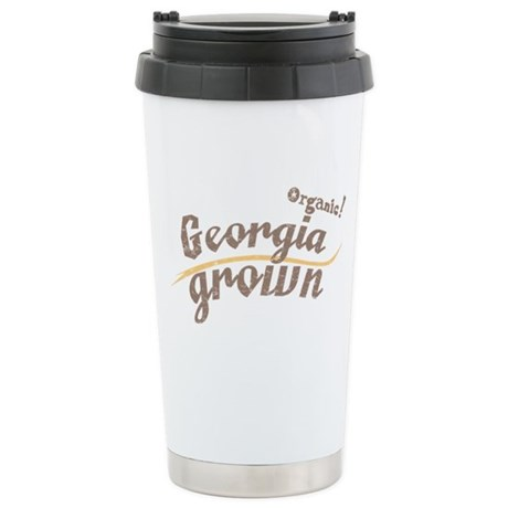 Organic! Georgia Grown! Stainless Steel Travel Mug