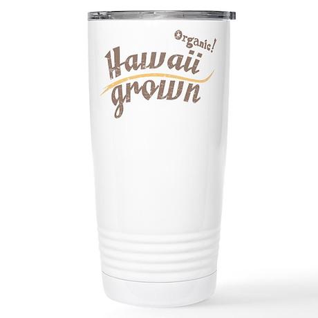 Organic! Hawaii Grown! Stainless Steel Travel Mug