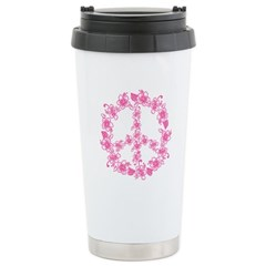 Hula Peace in pink Stainless Steel Travel Mug