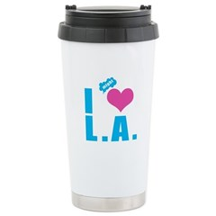 I Love (Heart) L.A. Stainless Steel Travel Mug