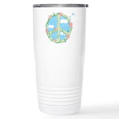 Peace Flowers Travel Mug