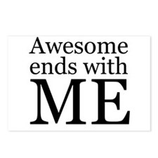 Awesome Ends with Me Postcards (Package of 8)