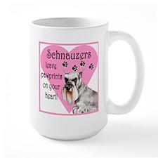 Schnauzer Pawprints Heart Mug