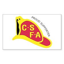 Rectangular CSFA Support Bumper Stickers