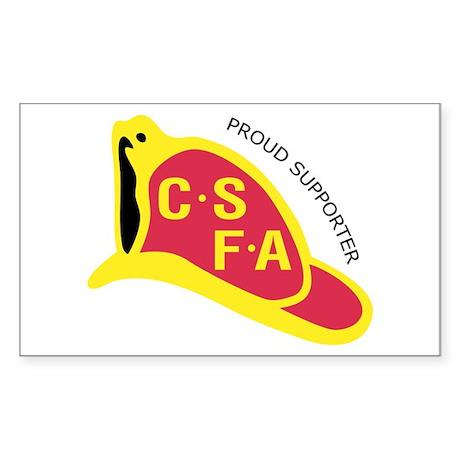 Rectangular CSFA Support Sticker