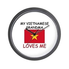 My Vietnamese Grandma Loves Me Wall Clock