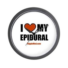 Epidural Love Wall Clock
