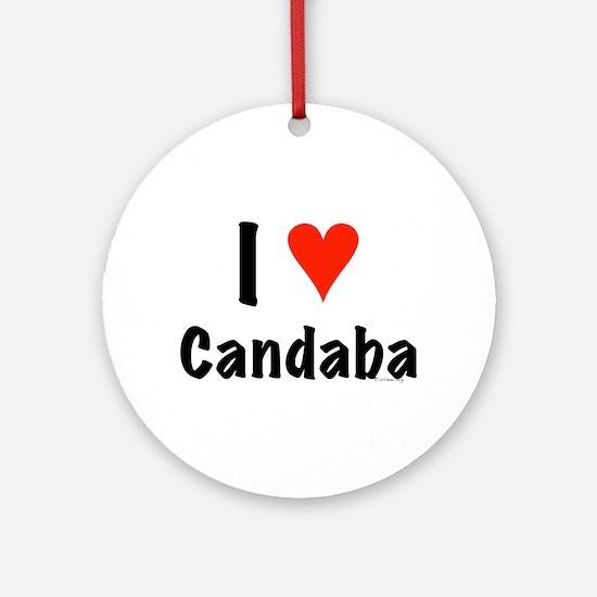 I love Candaba Ornament (Round)