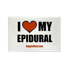 Epidural Love Rectangle Magnet