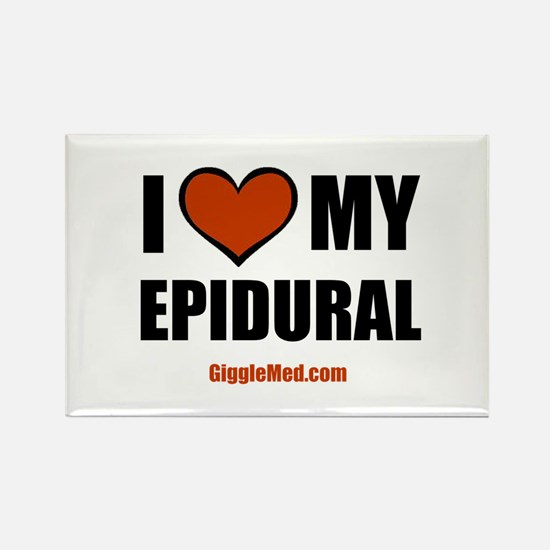 Epidural Love Rectangle Magnet