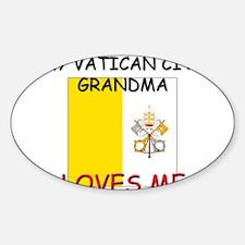My Vatican City Grandma Loves Me Oval Decal
