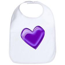 Purple Jelly Heart Bib