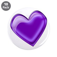 """Purple Jelly Heart 3.5"""" Button (10 pack)"""