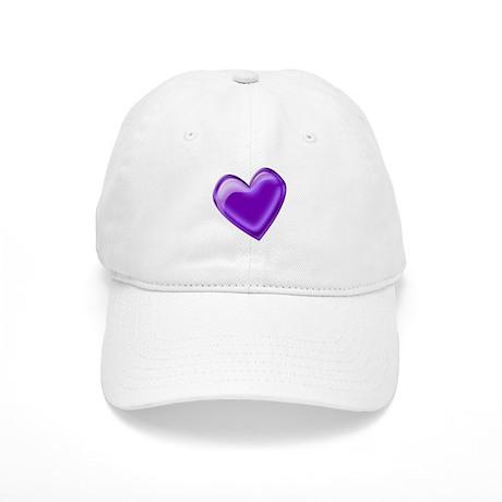 Purple Jelly Heart Cap