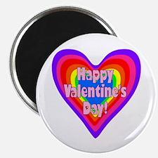 rainbow heart valentine 1 Magnet
