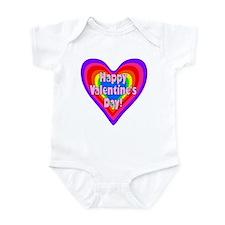 rainbow heart valentine 1 Infant Bodysuit