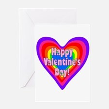 rainbow heart valentine 1 Greeting Card