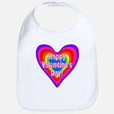 rainbow heart valentine 1 Bib