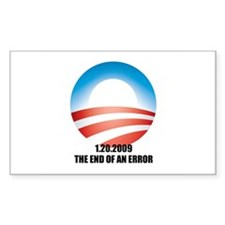Obama - The End of an Error Rectangle Decal