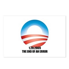Obama - The End of an Error Postcards (Package of