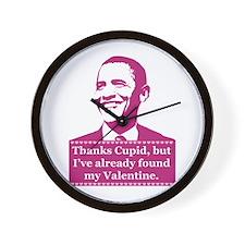 Obama Valentine's Day Wall Clock