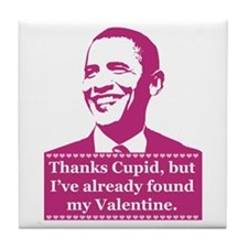 Obama Valentine's Day Tile Coaster