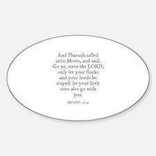 EXODUS 10:24 Oval Decal
