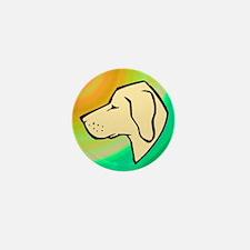 Yellow Labrador Retriever Mini Button