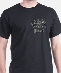 Brown Vintage Crest Family Name T-Shirt