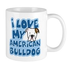 I Love my American Bulldog Mug (Cartoon)