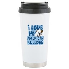 I Love my American Bulldog Travel Mug
