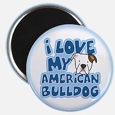 I Love my American Bulldog Magnet