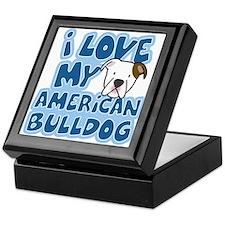 I Love my American Bulldog Keepsake Box