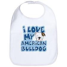 I Love my American Bulldog Bib