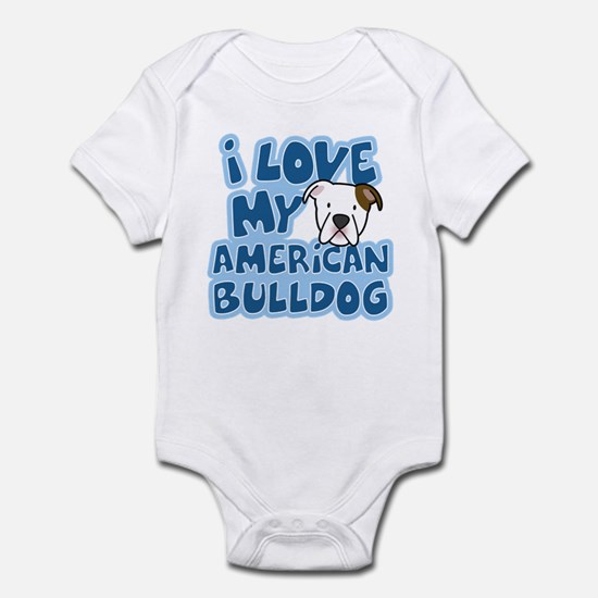 I Love my American Bulldog Infant Bodysuit